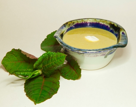 japanese knotweed cold dessert soup 3 foragers