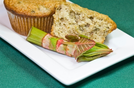 Japanese knotweed muffin